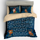 Single Double Twin Full Queen King Bed Pillowcase Quilt Cover rAUl3 Xmas Maze #m