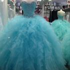 NEW Formal Ball Gown Prom Party Pageant Evening Quinceanera Dress Wedding Gown