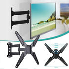 Single Swing Arm Full Motion TV Wall Mount Pivot Tilt Swivel Bracket  26-55 inch