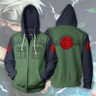 Naruto Shippuden Kakashi Costume Hoodie Jacket Sweatshirt For Halloween Cosplay