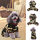 Winter Warm Cute Pet Dog Cat Clothes Coat Soft Plush Pajamas Jumpsuit Clothing