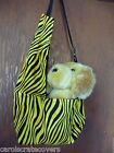 Yellow Black Zebra Puppy Shoulder Bag Carrier Dog Pet Carols Crate Covers