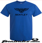 BENTLEY  Blue T-Shirt Graphic  Size: S TO 2XL black  vinyl  logo  image