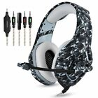 ONIKUMA K1 Casque Camouflage PS4 Headset Stereo Gaming Headphone With Mic Laptop