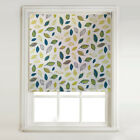Green And Teal Leaves Daylight Roller Blind + METAL BRACKET FITTINGS