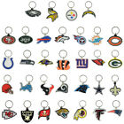 NFL LOGO KEYCHAIN 2D FLEXIBLE SOFT PVC  KEY RING CHOOSE YOUR TEAM
