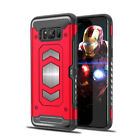 For Samsung Galaxy S8 Case Luxury Armor Shockproof Magnetic Card Slot Case Cover