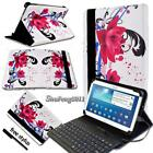 """Leather Stand Cover Case With Keyboard For 7"""" 8"""" 10"""" Samsung Galaxy Tab A Tablet"""