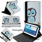 "Leather Stand Cover Case With Keyboard For 7"" 8"" 10"" Samsung Galaxy Tab A Tablet"