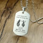 "Men Man Necklace Pendant Brother Military Soldier Dog Tag Personalized 24"" Chain"