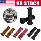 "US 7/8"" 22mm Handle Bar Motorcycle Hand Grips Grip Handlebar End Fit Cafe Racer image"