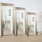 Large Silver Antique Vintage Shabby Chic Style Decor Wall Floor Glass Mirror
