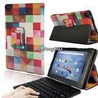 Leather Stand Cover Case + Bluetooth Keyboard For Amazon Fire HD 8 With Alexa