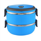Student Workers 1-5Layer Thermo Insulated Thermal Food Container Lunch Box USA