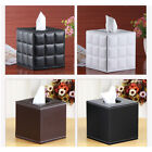 Tissue Box Cover Holder for Bathroom Vanity Countertops PU Leather