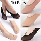 10Pair Womens Loafer Invisible No Show Nonslip Liner Low Cut Cotton Boat Sock XR