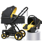 Baby Stroller Basket Sit Reclining Foldable Two-way Carrycot With Car Seat