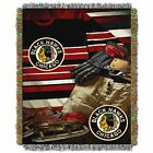 """Blackhawks OFFICIAL National Hockey League, """"Vintage"""" 48""""x 60"""" Woven Tapestry Th $37.99 USD on eBay"""