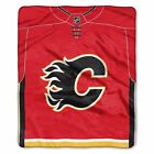 """Flames OFFICIAL National Hockey League, """"Jersey"""" 50""""x 60"""" Raschel Throw  by The $37.99 USD on eBay"""