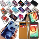 Leather Wallet Card Stand Flip Case Cover For Various Alcatel Smartphones +Strap