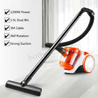 Upright Bagless Cylinder Vacuum Cleaner Cyclonic Lightweight Washable Filters