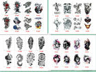 Large Tiger Head Wolf Head Temporary Waterproof Tattoo Body Arm Stickers Men US