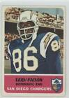 1962 Fleer #87 Earl Faison San Diego Chargers RC Rookie Football Card $11.43 USD on eBay