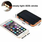 New 600000mAh 2-USB Solar Battery Charger Solar Power Bank Portable Waterproof