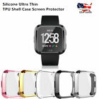 Silicone Ultra thin TPU Shell Case Screen Protector For Fitbit Versa Smart Watch