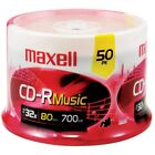 Maxell 80-minute Music Cd-rs (50-ct Spindle) MXLCDR80MU50PK
