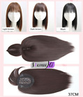 US Stock Synthetic Middle Part Clip in Hair Topper Top Hairpiece Air Bang FAST