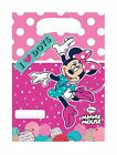 Kids Princess Minnie Mickey Party Bags Pack of 6 Childrens Sponge Bob Party Bags