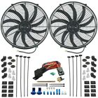 DUAL 12V ELECTRIC COOLING FAN S THERMOSTAT SENSOR KIT RADIATOR FIN PUSH IN PROBE