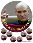 Star Trek Personalised Cake and cupcake Toppers, Jean Luc Picard, Enterprise on eBay