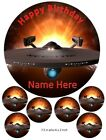 Star Trek Enterprise Cake and cupcake Toppers, Personalised, Star Ship, Space on eBay