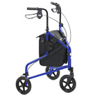 Days Lightweight Aluminium Folding 3 Wheel Tri Walker with Lockable Brakes and C