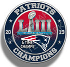 New England Patriots Super Bowl 53 2019 Champions, Sticker Decal NFL Football on eBay