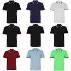 Asquith & Fox Mens Classic Fit Tipped Polo Shirt (RW4809)