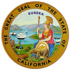 California State Seal Vinyl Flag Decal Sticker  Multiple Sizes To Choose From