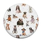 Cool Dogs in Outfits Paw Print Pattern Kitchen Refrigerator Locker Button Magnet