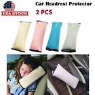 2× Comfortable Seat Belt Pillow Head Neck Protector Rest Cushion Pad US Stock