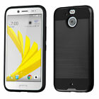 For HTC Bolt Brushed Impact Armor Hard Silicone Hybrid Protector Case Cover