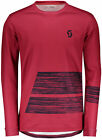 Scott Trail AS Long Sleeve Mens Cycling Jersey - Red