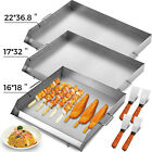 16'x18'/32'x17'/36'x22' Stainless Steel Griddle Flat Top Grill  BBQ Heavy duty