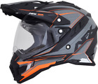 AFX FX-41DS Eiger Helmet Grey/Neon Orange Adventure Street All Sizes