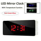 Digital Slilent Modern HD Multifunction Mirror LED Alarm Clock Table Clock