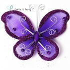 72 or 144 pcs. Nylon Organza Butterfly Wedding Quince & Party Decor 1 2 3 Inch