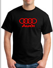 NEW MEN'S AUDI A4  T-Shirt Vinyl logo Size Small To 2XL image