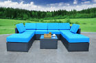 Mcombo 9pc Outdoor Garden Patio Rattan Wicker Chair Sofa Sectional Furniture
