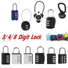 3/4/8-Digit Code Suitcase Luggage Password Lock TSA Combination Travel Padlock